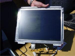 太陽光下での通常液晶面