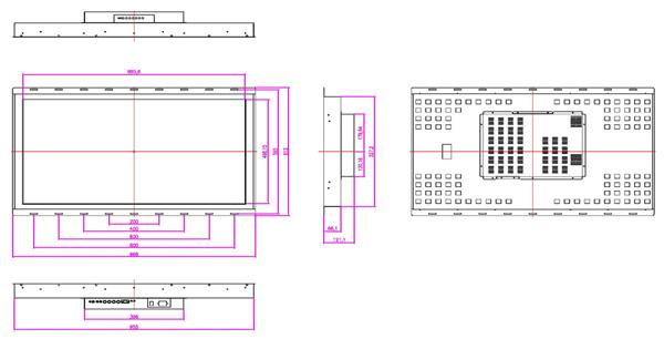 液晶モニター(オープンフレーム、通常輝度) 40インチワイド VL-W4010LO図面