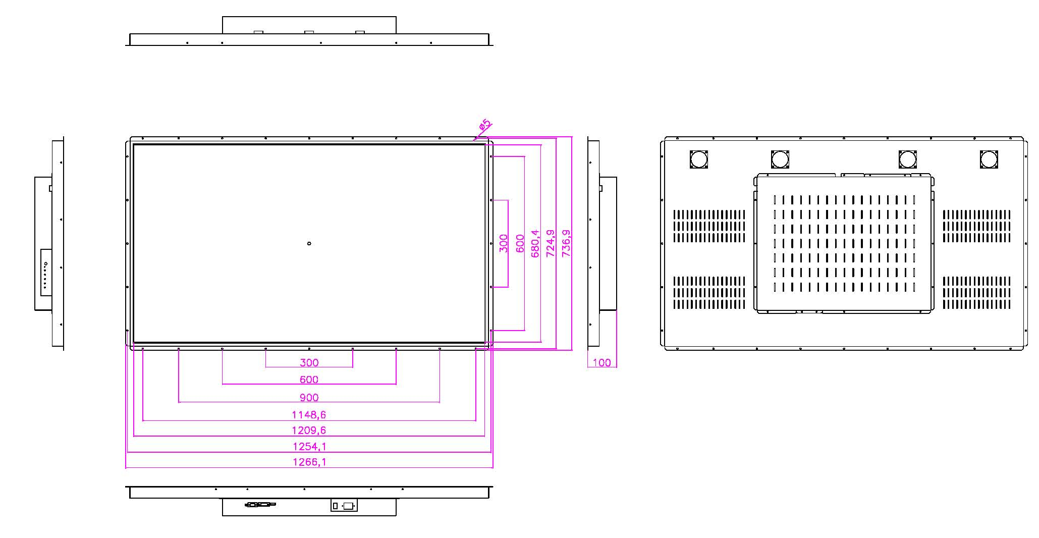 VH-W5512LO_10 液晶モニター高輝度半透過型(オープンフレーム)組み込み用19インチ
