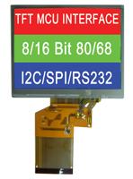 液晶モジュール(カラーTFT+MCU インターフェース)